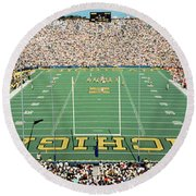 University Of Michigan Stadium, Ann Round Beach Towel