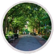 Round Beach Towel featuring the photograph University Of Pennsylvania Campus - Philadelphia by Bill Cannon