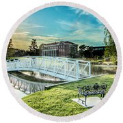 University Of Southern Mississippi Round Beach Towel