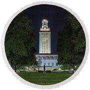 University Of Texas Tower Round Beach Towel