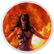 Unleashed Round Beach Towel
