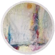 Sherbert Tales Round Beach Towel by Gallery Messina