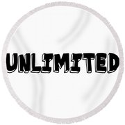 Unlimted Round Beach Towel