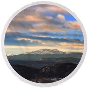 The Unmatched Beauty Of The Colorado Rockies Round Beach Towel