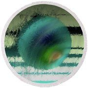 Unraveled 2 Round Beach Towel