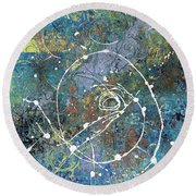 Unsettled Aspect Round Beach Towel
