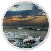 Unsettled Round Beach Towel