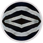 Round Beach Towel featuring the photograph Untamed by Tony Beck