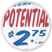 Untapped Potential Supermarket Series Round Beach Towel