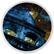 Round Beach Towel featuring the photograph Until The Last Star Falls by Aurelio Zucco