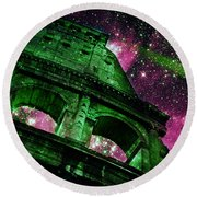 Round Beach Towel featuring the photograph Until The Last Star Falls II by Aurelio Zucco