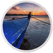 Round Beach Towel featuring the photograph Until To The End by Edgar Laureano