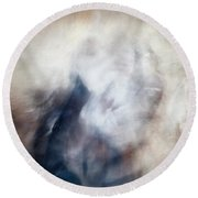 Untitled #0243, From The Soul Searching Series Round Beach Towel