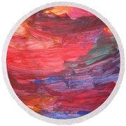 untitled 110 Original Painting Round Beach Towel