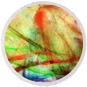 Untitled #140922, From The Soul Searching Series Round Beach Towel