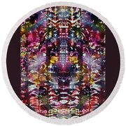 2-offspring While I Was  On The Path To Perfection 2 Round Beach Towel