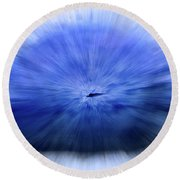 Untitled #3470, From The Soul Searching Series Round Beach Towel