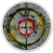 Four Directions Energy Round Beach Towel