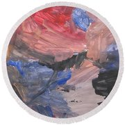 Untitled #7  Original Painting Round Beach Towel