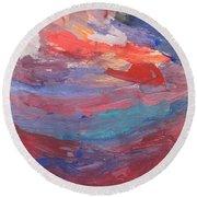 Untitled 96 Original Painting Round Beach Towel