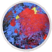 Untitled Abstract-7-817 Round Beach Towel