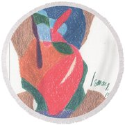 Untitled Abstract Round Beach Towel