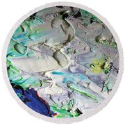 Untitled Abstract With Droplet ## Round Beach Towel