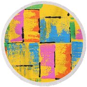 Abstract I See You Round Beach Towel