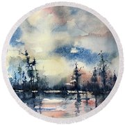 Untitled Round Beach Towel by Robin Miller-Bookhout