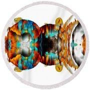 Round Beach Towel featuring the digital art Untitled Series 992.042212 -b by Kris Haas
