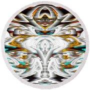Round Beach Towel featuring the digital art Untitled Series 992.042212 by Kris Haas