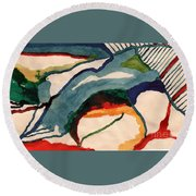 Untitledabstract Round Beach Towel
