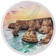 Unto Infinite Twilight Round Beach Towel