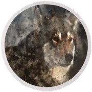Unwavering Loyalty Round Beach Towel by Elaine Ossipov