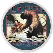 Up A Creek 1 Round Beach Towel by JQ Licensing