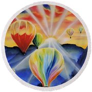 Up And Away Round Beach Towel by Dianna Lewis
