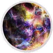 Round Beach Towel featuring the digital art Up And Away by Jason Hanson