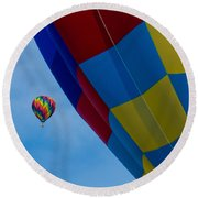 Up And Away 1 12x12 Round Beach Towel