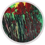 Up Close And Personal Round Beach Towel by Karen Nicholson