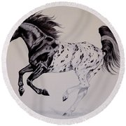 Up Close And Personal With Appaloosa's Round Beach Towel
