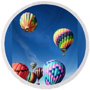 Up In A Hot Air Balloon 2 Round Beach Towel