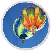 Up In A Hot Air Balloon Round Beach Towel