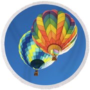 Up In A Hot Air Balloon Round Beach Towel