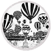 Up In The Air Round Beach Towel