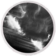 Up In The Clouds Round Beach Towel
