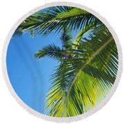 Up-palm Round Beach Towel