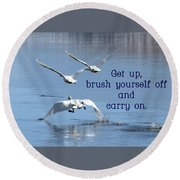 Up, Up And Away Carry On Round Beach Towel