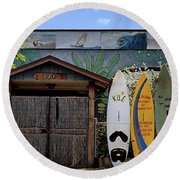 Upcountry Boards Round Beach Towel