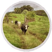 Upcountry Ranch Round Beach Towel