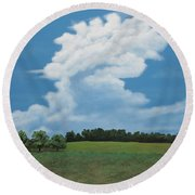 Updraft Round Beach Towel